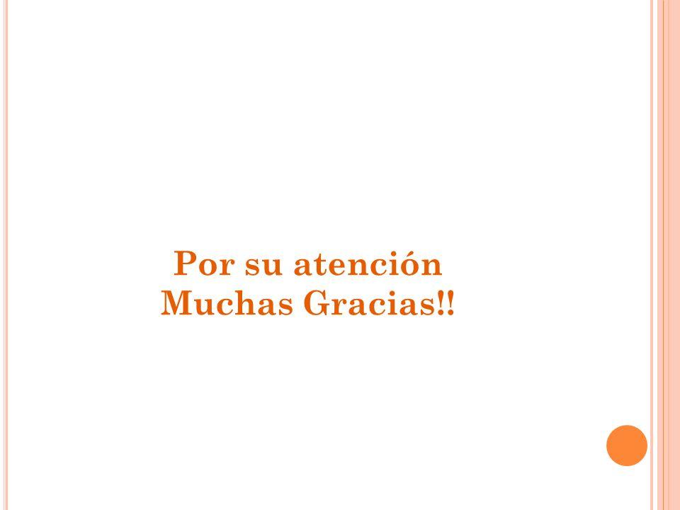 Por su atención Muchas Gracias!!