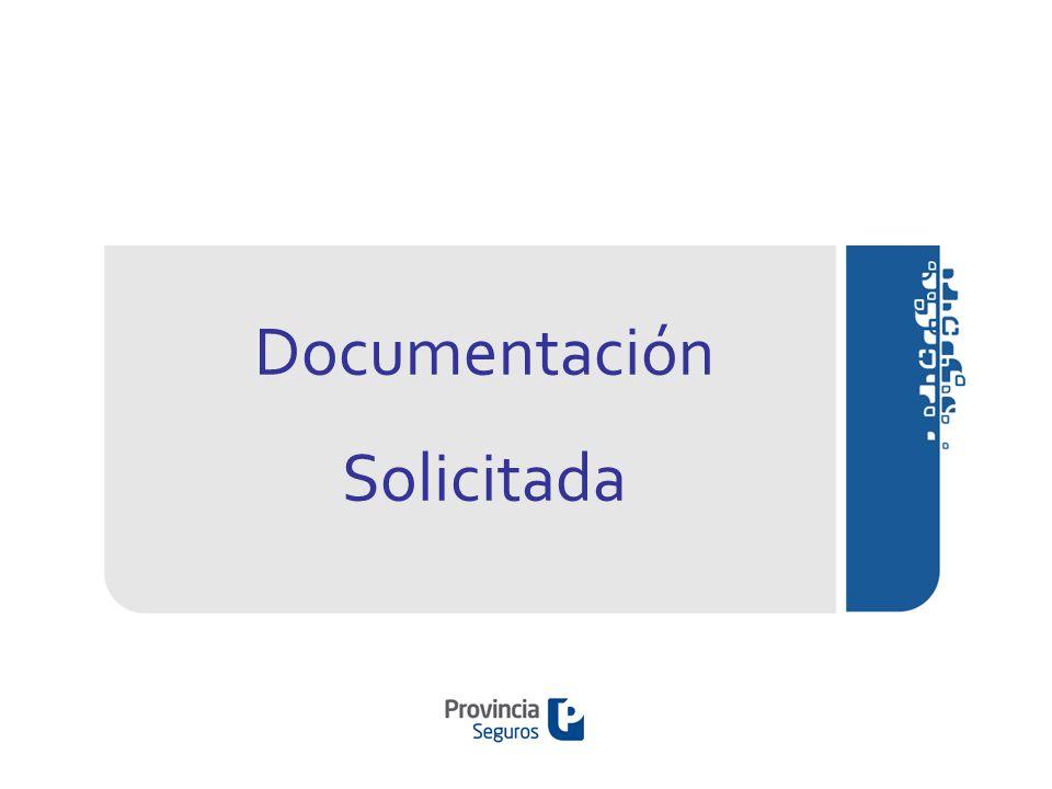 Documentación Solicitada