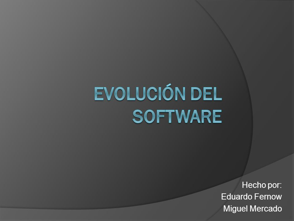 Hecho por: Eduardo Fernow Miguel Mercado