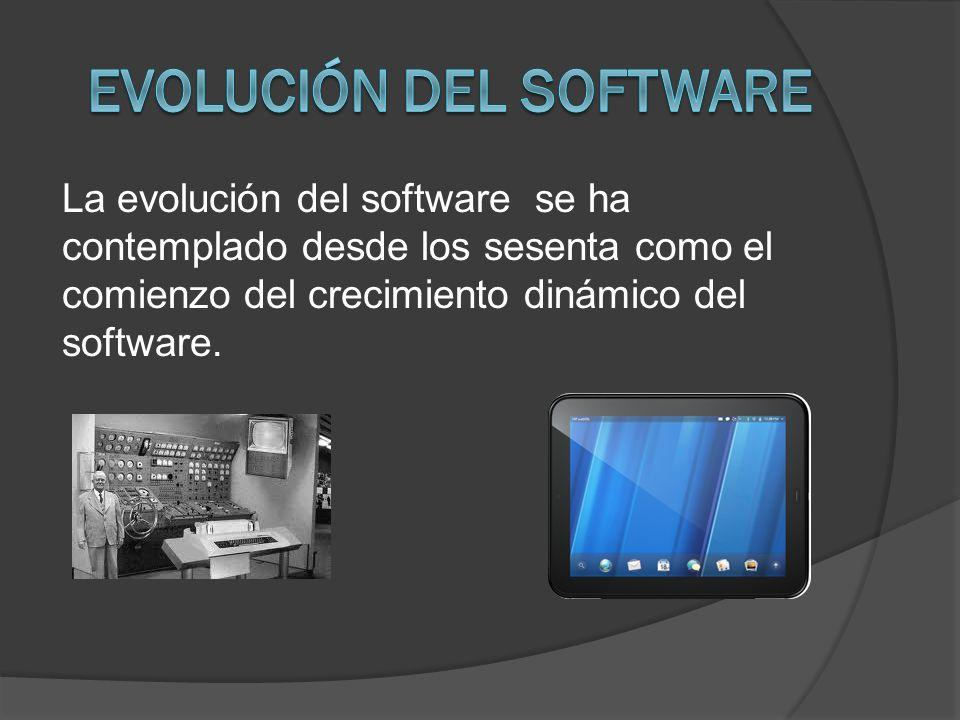 La evolución del software se ha contemplado desde los sesenta como el comienzo del crecimiento dinámico del software.