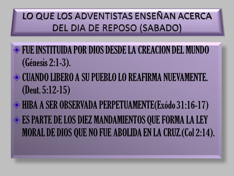 FUE INSTITUIDA POR DIOS DESDE LA CREACION DEL MUNDO (Génesis 2:1-3).