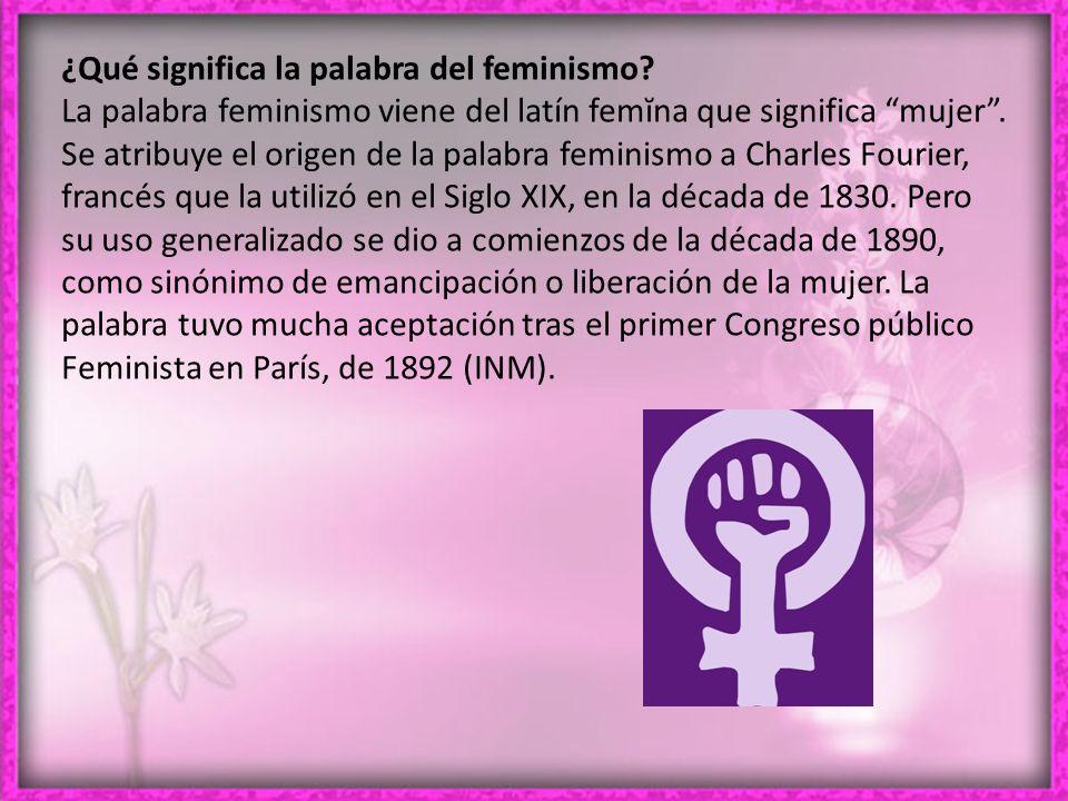 ¿Qué significa la palabra del feminismo.