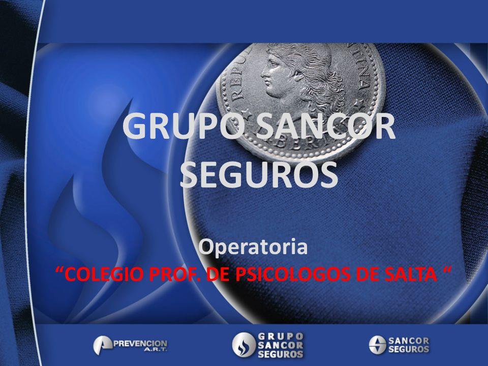 GRUPO SANCOR SEGUROS Operatoria COLEGIO PROF. DE PSICOLOGOS DE SALTA