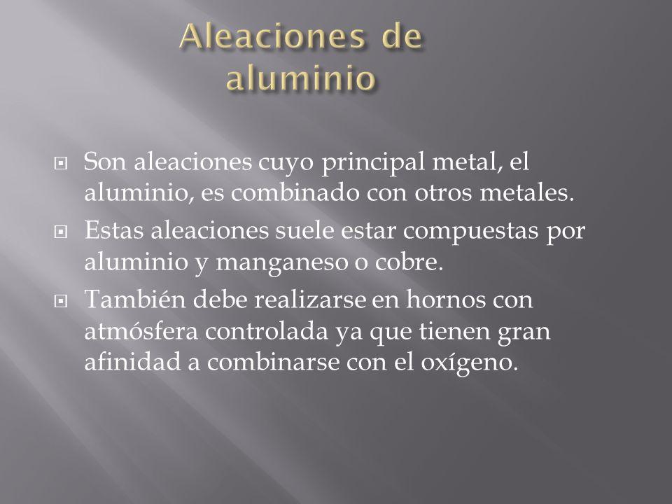 Son aleaciones cuyo principal metal, el aluminio, es combinado con otros metales. Estas aleaciones suele estar compuestas por aluminio y manganeso o c