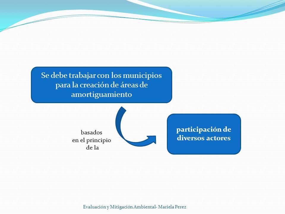 Se debe trabajar con los municipios para la creación de áreas de amortiguamiento Evaluación y Mitigación Ambiental- Mariela Perez participación de div