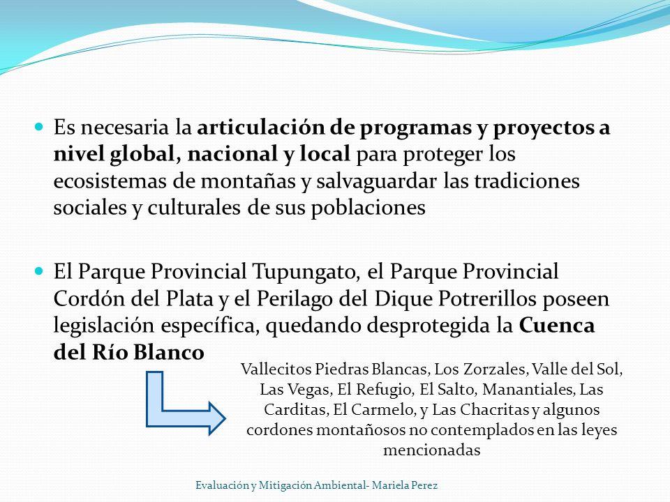 Es necesaria la articulación de programas y proyectos a nivel global, nacional y local para proteger los ecosistemas de montañas y salvaguardar las tr
