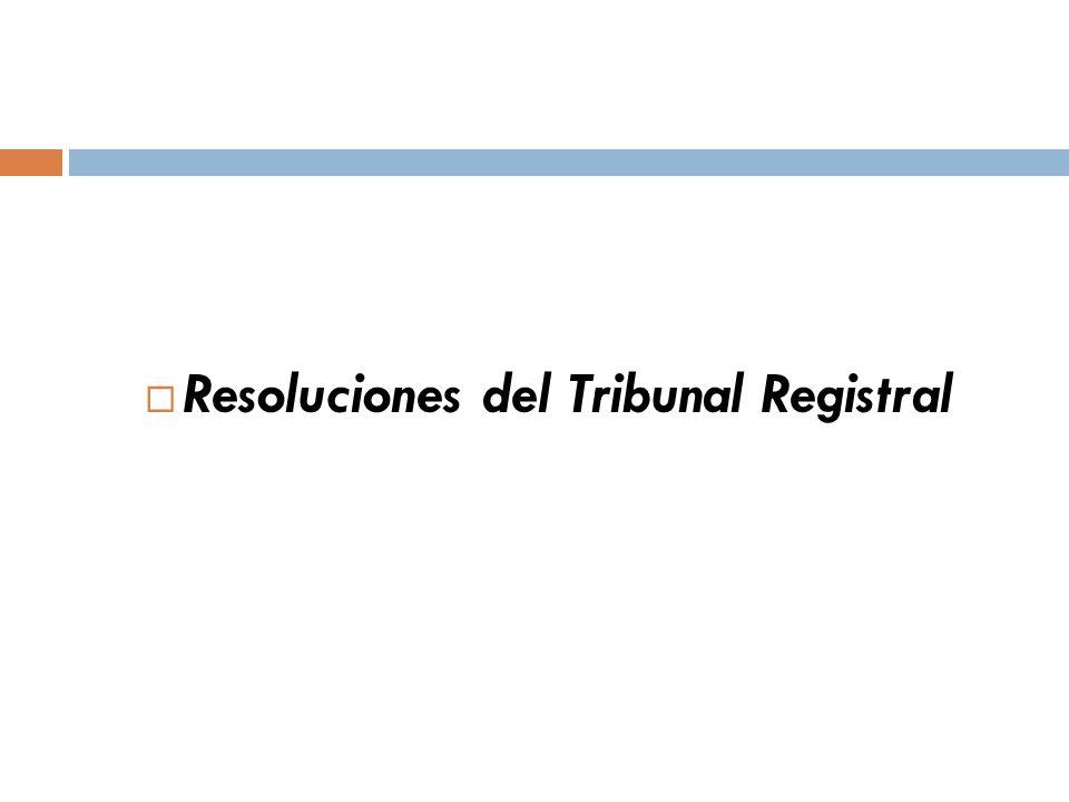 Resoluciones del Tribunal Registral