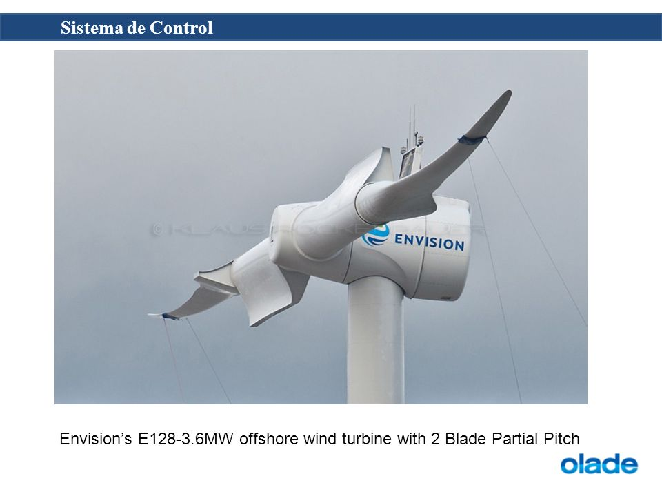 Envisions E128-3.6MW offshore wind turbine with 2 Blade Partial Pitch