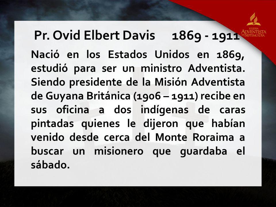 Nació en los Estados Unidos en 1869, estudió para ser un ministro Adventista. Siendo presidente de la Misión Adventista de Guyana Británica (1906 – 19