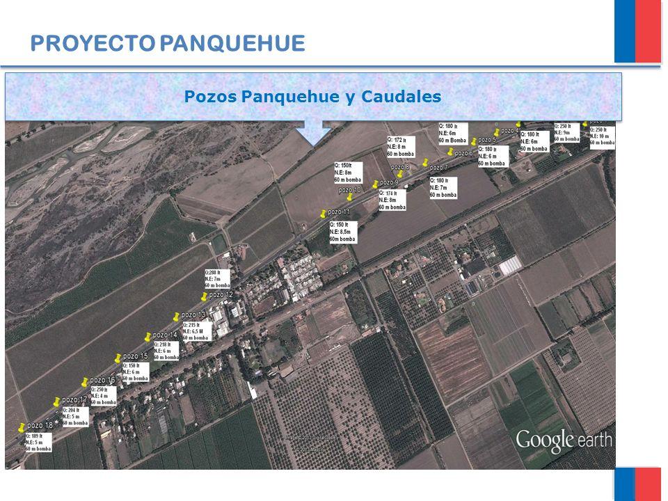 PROYECTO PANQUEHUE Pozos Panquehue y Caudales