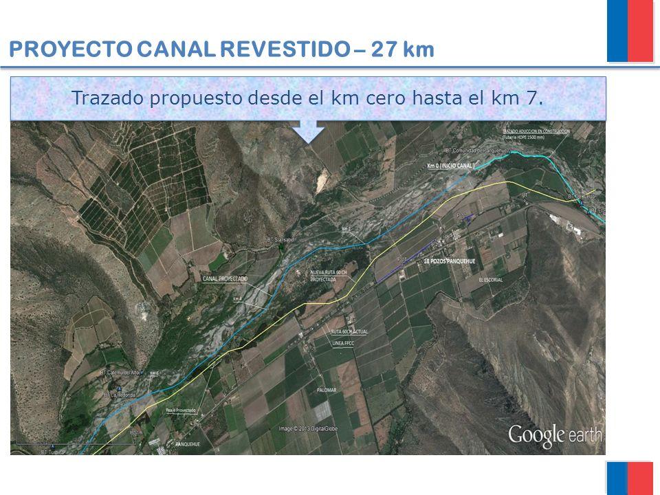 PROYECTO CANAL REVESTIDO – 27 km TRAMO 1 (0 km – 7 km) Trazado propuesto desde el km cero hasta el km 7.