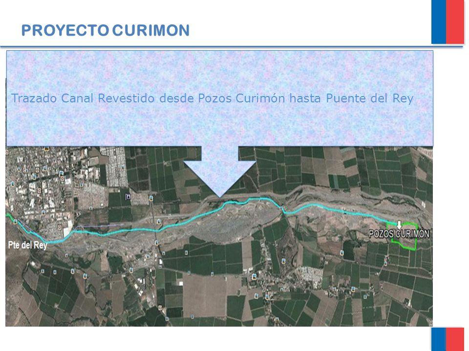 PROYECTO CURIMON Trazado Canal Revestido desde Pozos Curimón hasta Puente del Rey