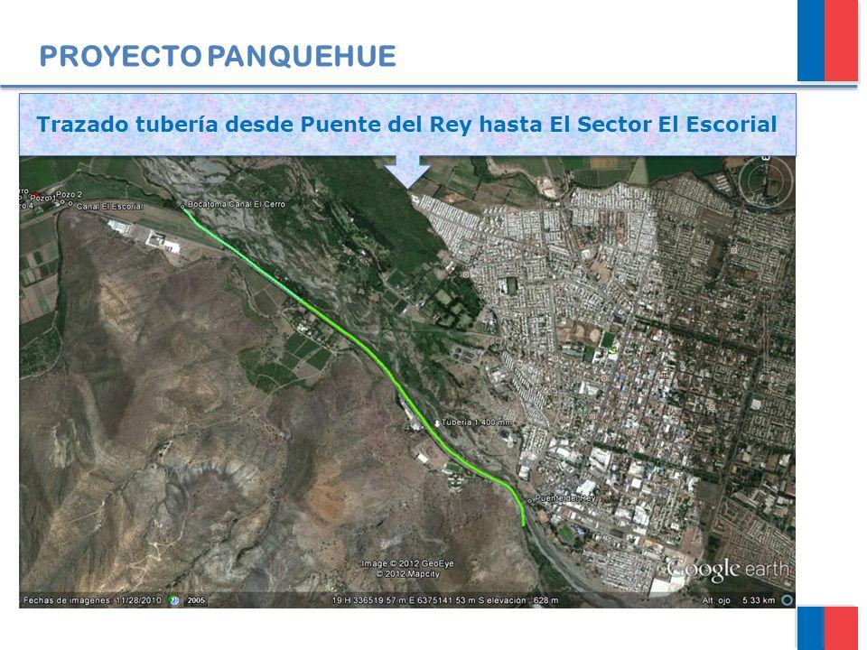 PROYECTO PANQUEHUE Trazado tubería desde Puente del Rey hasta El Sector El Escorial