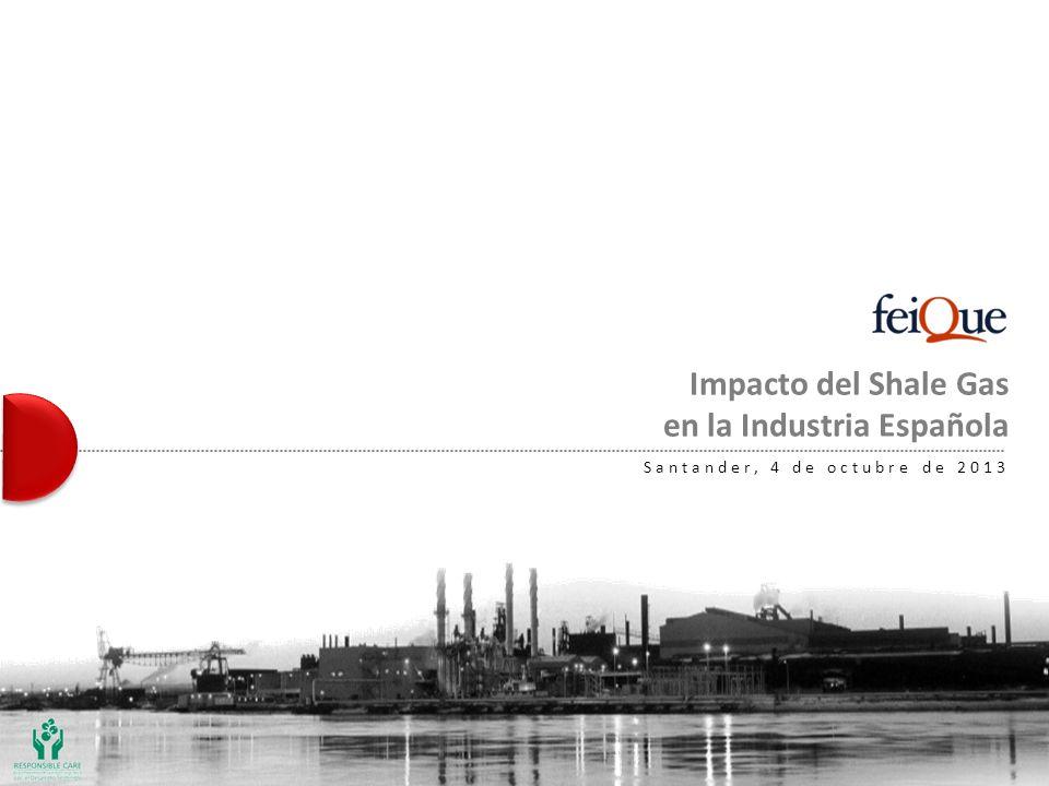 Impacto del Shale Gas en la Industria Española Santander, 4 de octubre de 2013