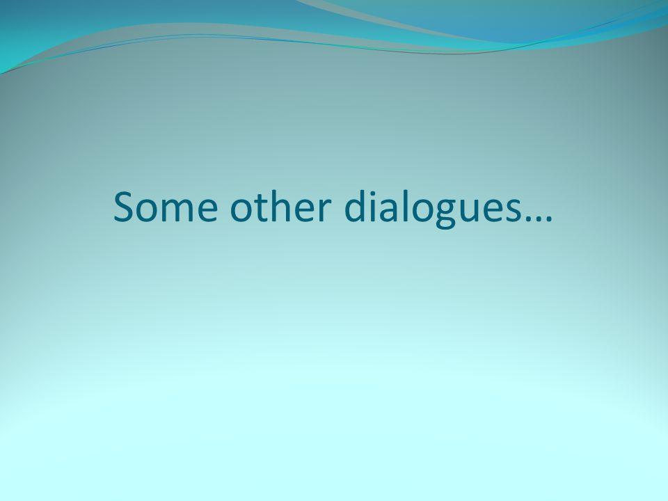 Saludos (Greetings) – Dialogue #1 Persona #1: ¡Hola.