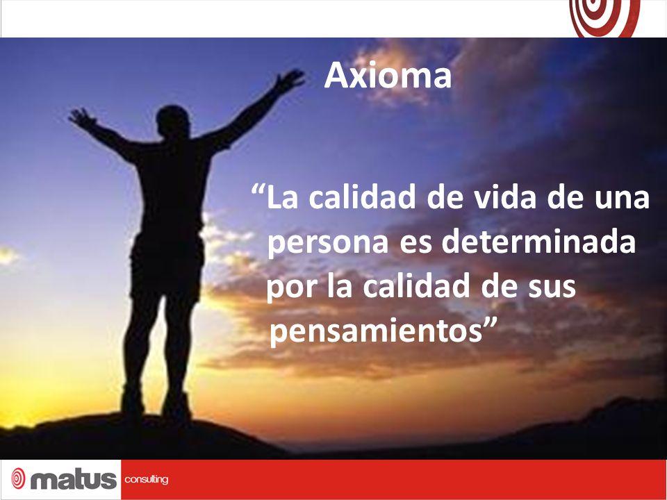 Axioma La calidad de vida de una persona es determinada por la calidad de sus pensamientos