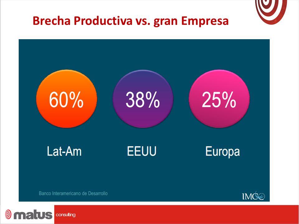 Brecha Productiva vs. gran Empresa.