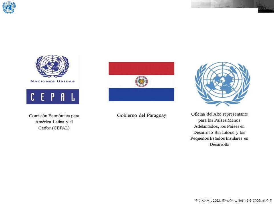 © CEPAL 2013, Gordon.Wilmsmeier@cepal.org hinterland El hinterland potencial de un gateway (ej.