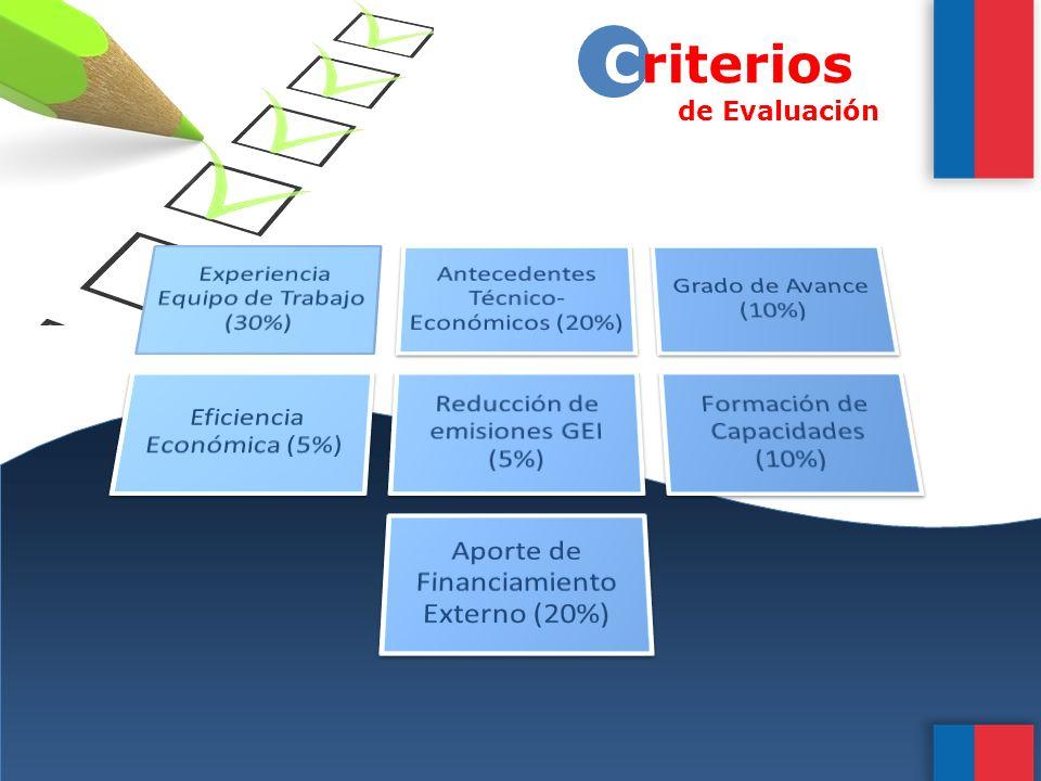 8 Criterios de Evaluación