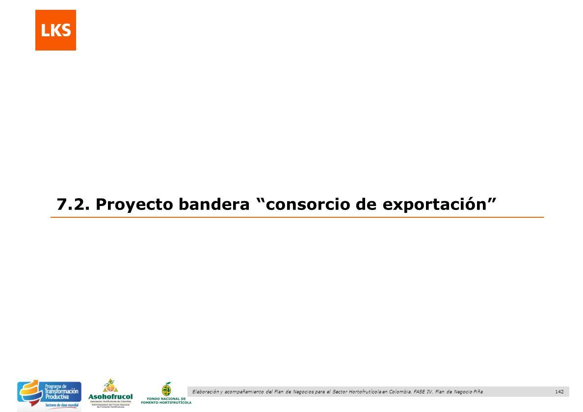 142 Elaboración y acompañamiento del Plan de Negocios para el Sector Hortofrutícola en Colombia. FASE IV. Plan de Negocio Piña 7.2. Proyecto bandera c