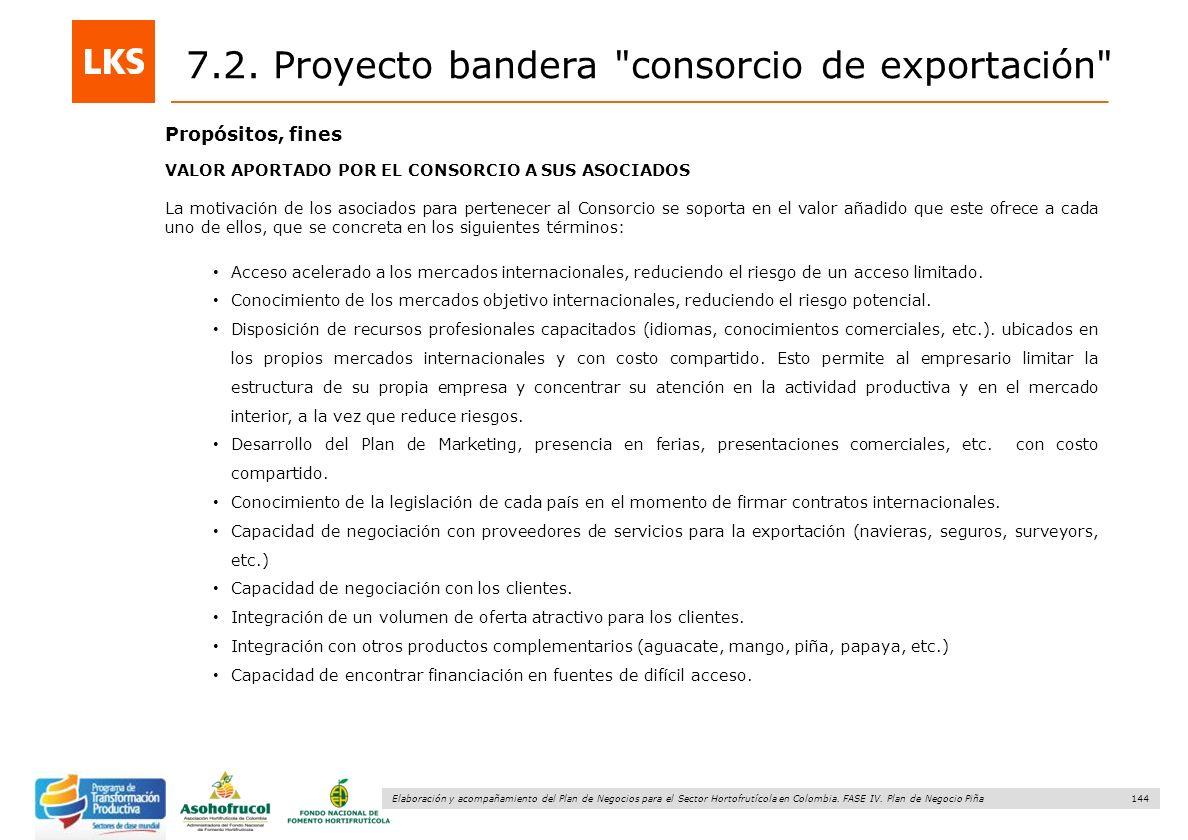 144 Elaboración y acompañamiento del Plan de Negocios para el Sector Hortofrutícola en Colombia. FASE IV. Plan de Negocio Piña Propósitos, fines VALOR