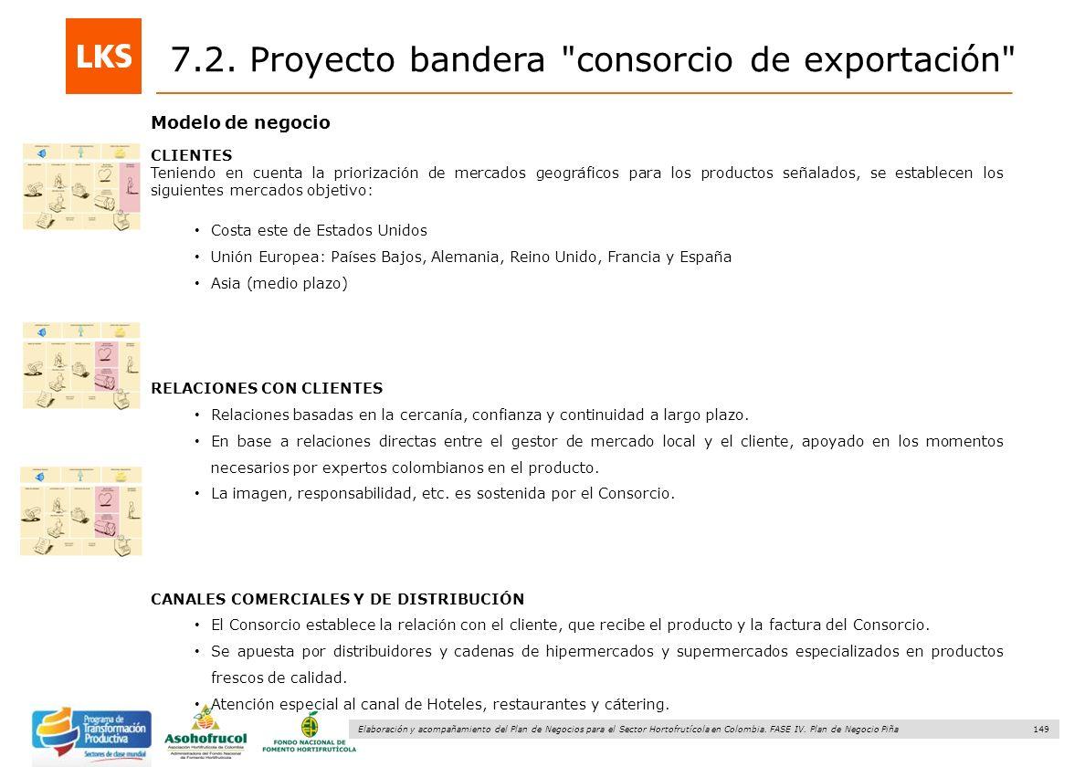 149 Elaboración y acompañamiento del Plan de Negocios para el Sector Hortofrutícola en Colombia. FASE IV. Plan de Negocio Piña Modelo de negocio CLIEN
