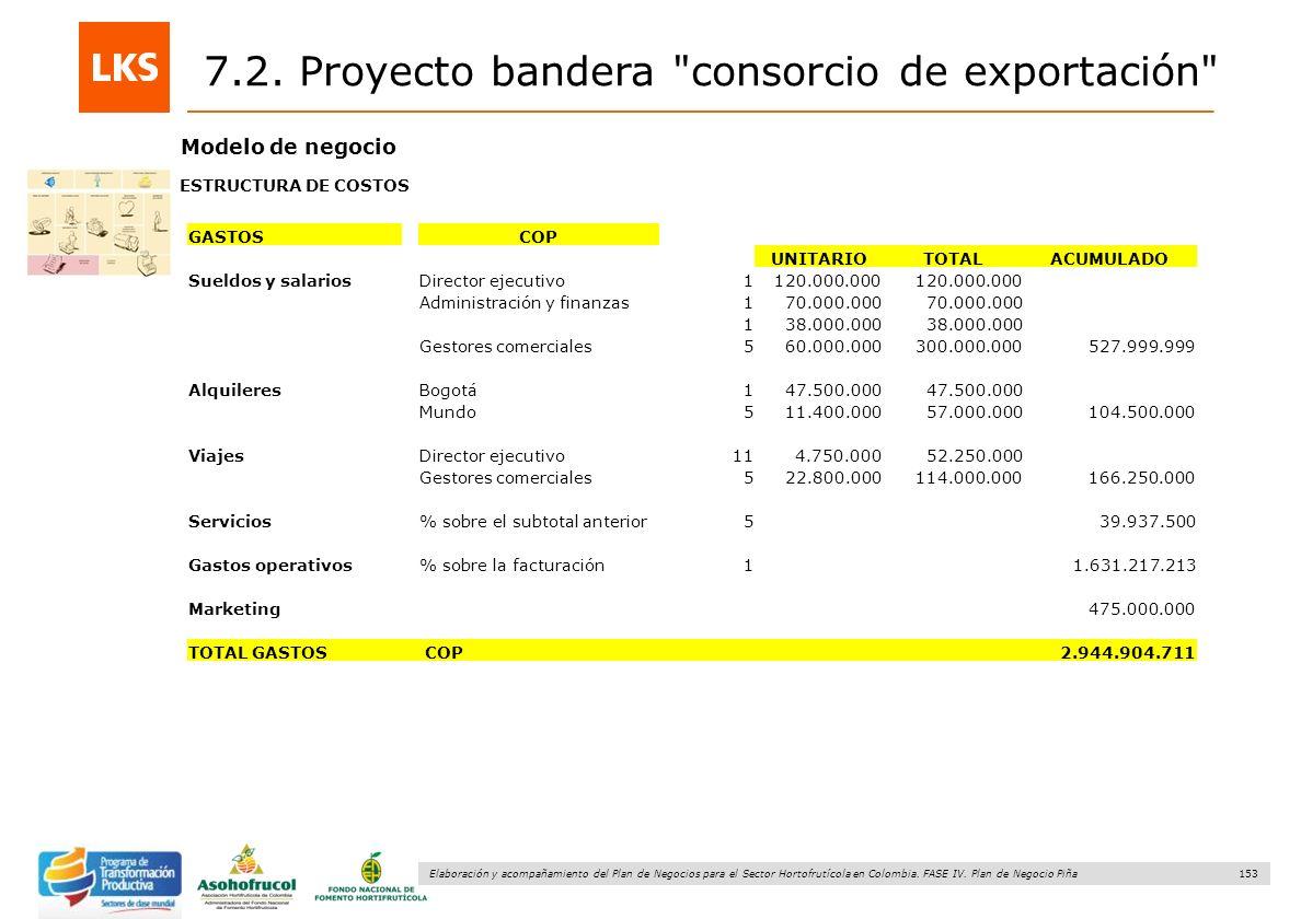 153 Elaboración y acompañamiento del Plan de Negocios para el Sector Hortofrutícola en Colombia. FASE IV. Plan de Negocio Piña Modelo de negocio ESTRU