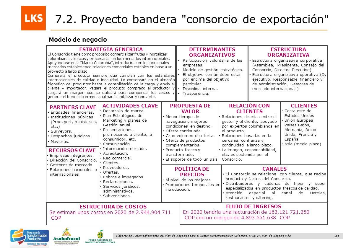 155 Elaboración y acompañamiento del Plan de Negocios para el Sector Hortofrutícola en Colombia. FASE IV. Plan de Negocio Piña Modelo de negocio 7.2.