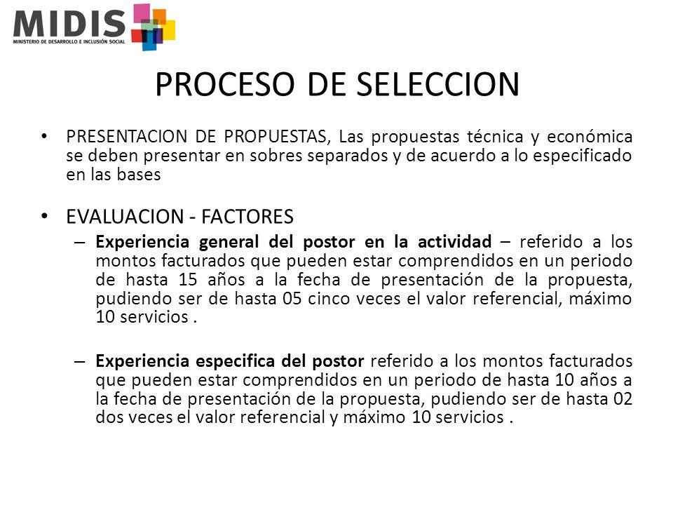 PROCESO DE SELECCION Mejoras a las condiciones previstas en las bases - Ofrecimiento de software relacionado al servicio.