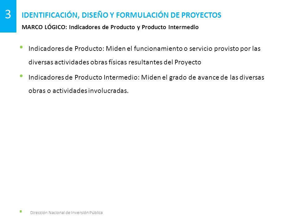 Indicadores de Producto: Miden el funcionamiento o servicio provisto por las diversas actividades obras físicas resultantes del Proyecto Indicadores d