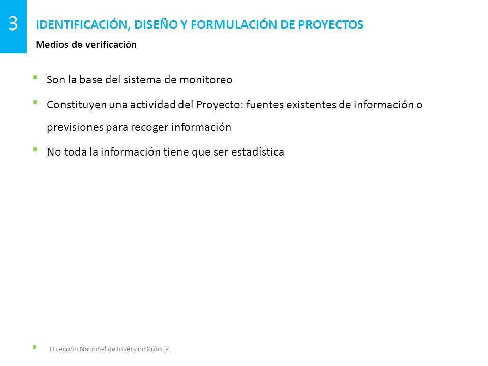 Son la base del sistema de monitoreo Constituyen una actividad del Proyecto: fuentes existentes de información o previsiones para recoger información