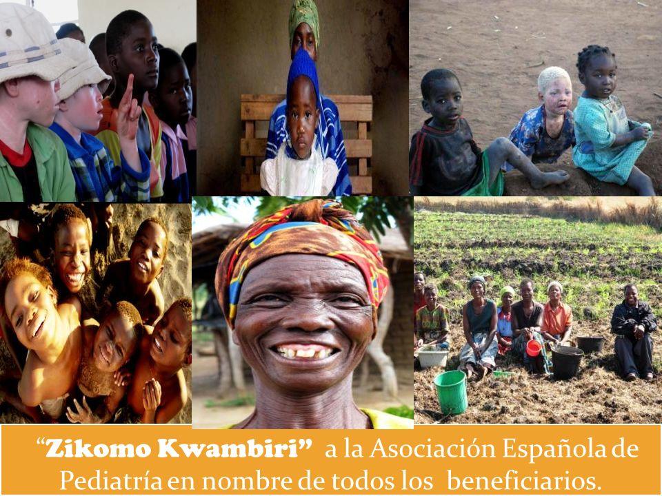 Zikomo Kwambiri a la Asociación Española de Pediatría en nombre de todos los beneficiarios.