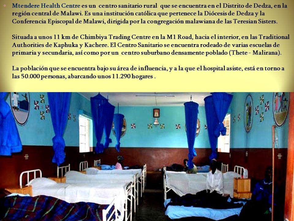 Transporte para casos pediátricos y de maternidad que hayan de ser derivados al hospital de referencia Casi todos los días hay casos de referencia al Hospital del distrito en Dedza, situado a unos 30 km de Mtendere.