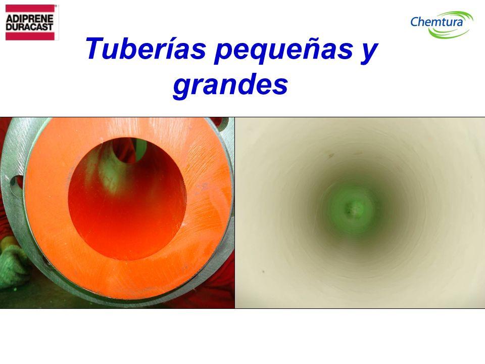 Tuberías pequeñas y grandes