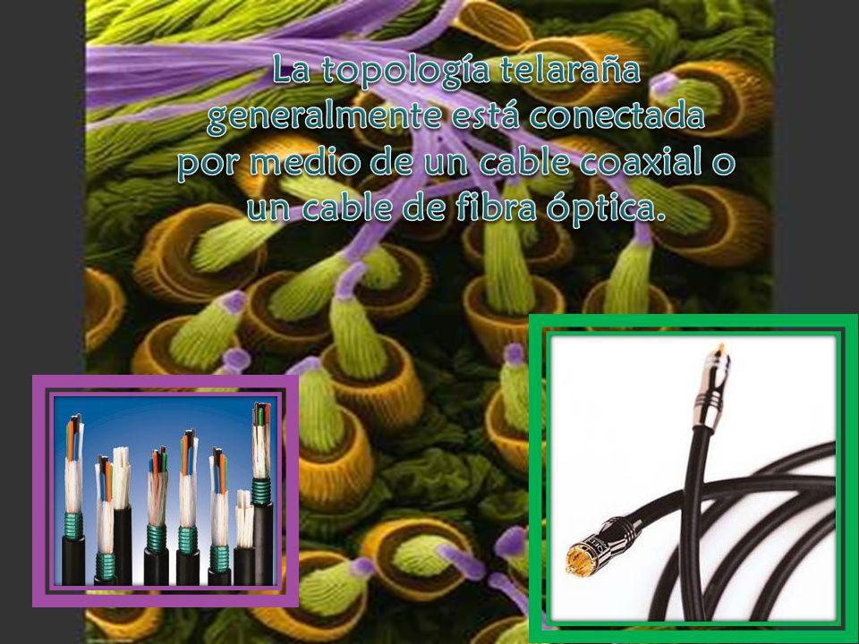 En una red telaraña la información es enviada únicamente a los dispositivos que se encuentran conectados eliminando así las colisiones e interferencia