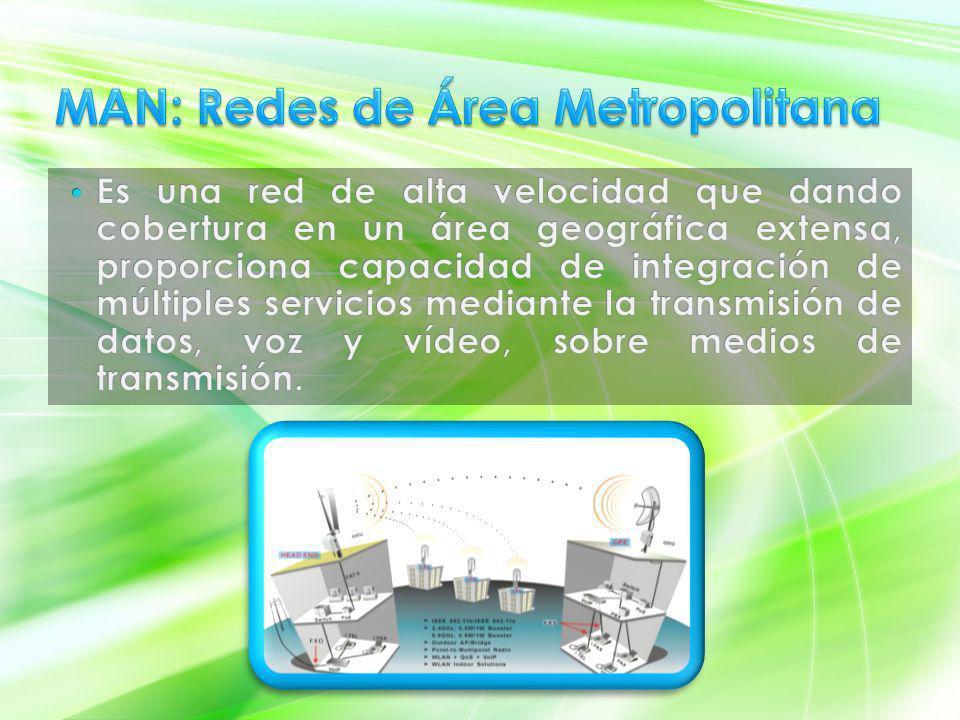 Interconecta ordenadores personales y estaciones de trabajo en oficinas, fábricas, etc., para compartir recursos e intercambiar datos y aplicaciones.