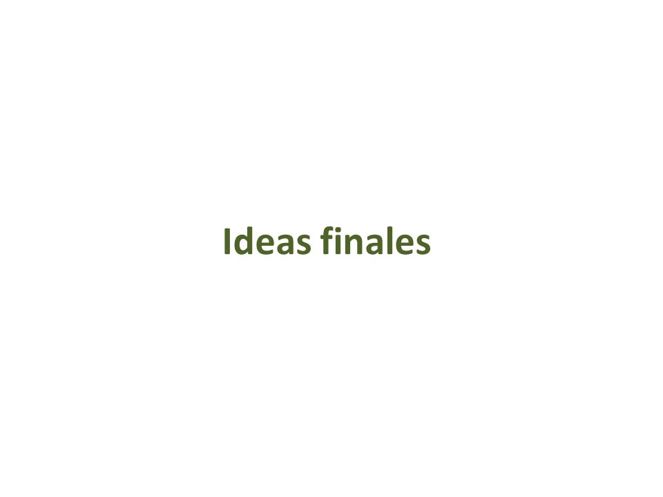 Ideas finales