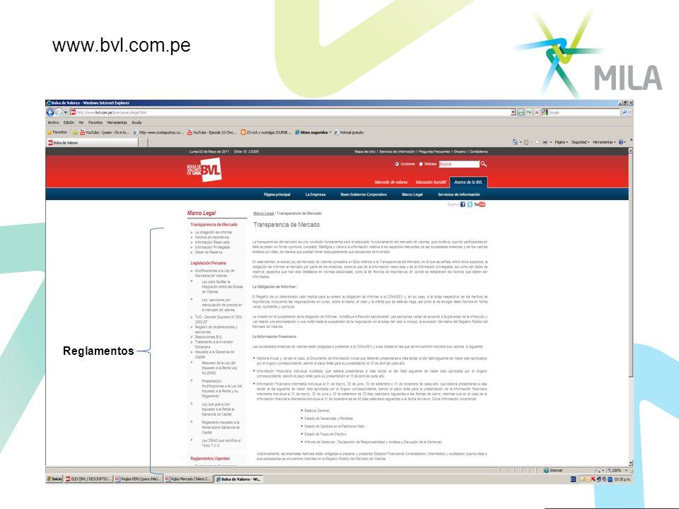 Reglamentos www.bvl.com.pe