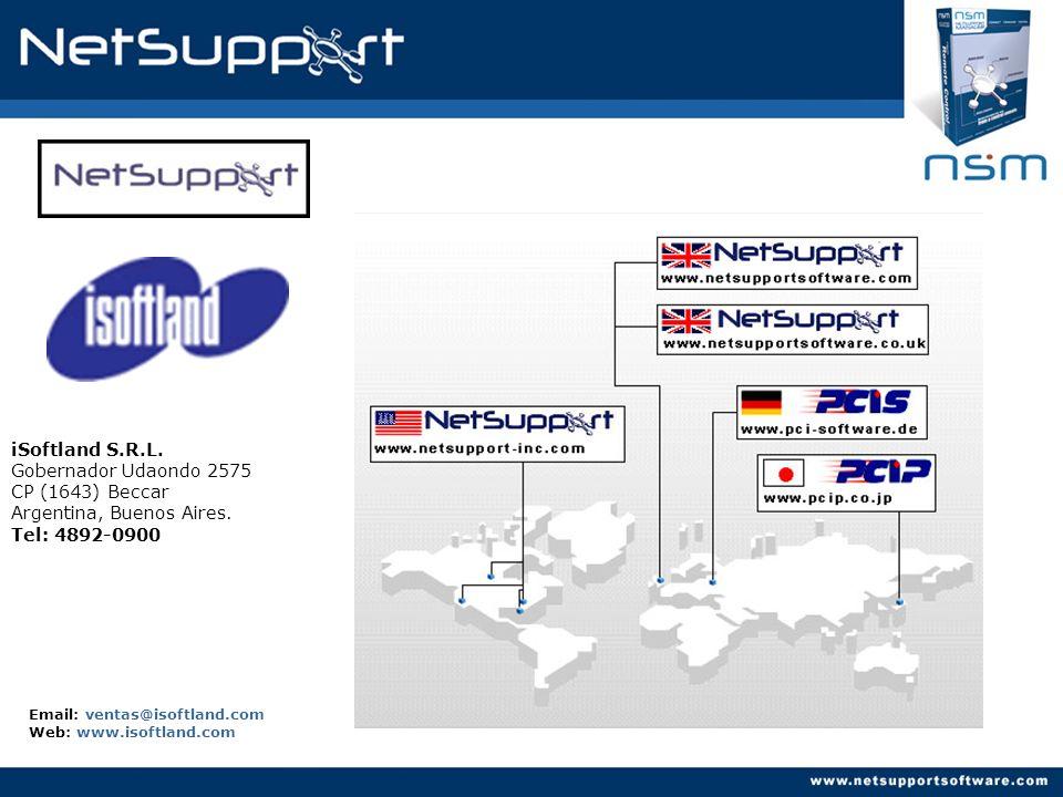 Email: ventas@isoftland.com Web: www.isoftland.com iSoftland S.R.L. Gobernador Udaondo 2575 CP (1643) Beccar Argentina, Buenos Aires. Tel: 4892-0900