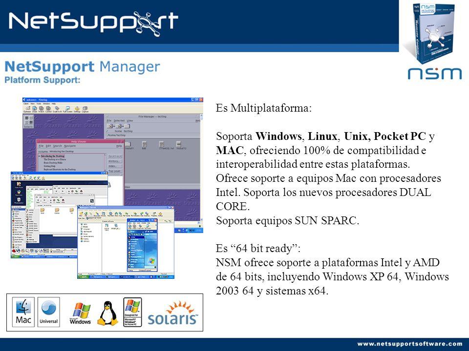 NetSupport Manager multi- plataforma soporta sistemas Pocket PC y CE.