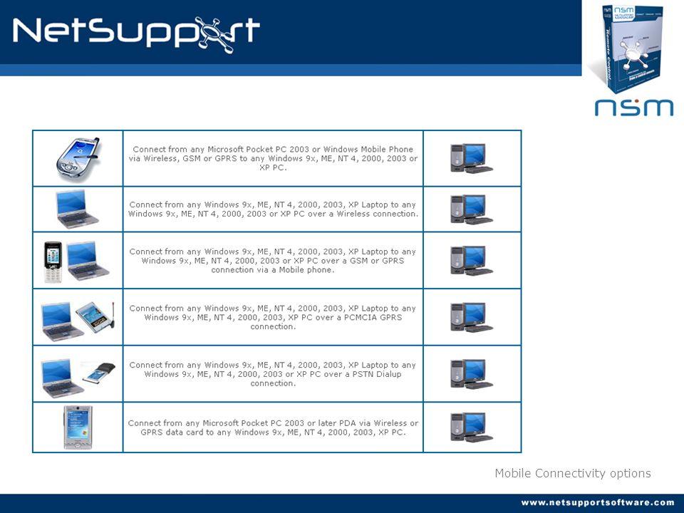 Múltiples opciones de conexión: Buscar dinámicamente en la red por clientes NSM.