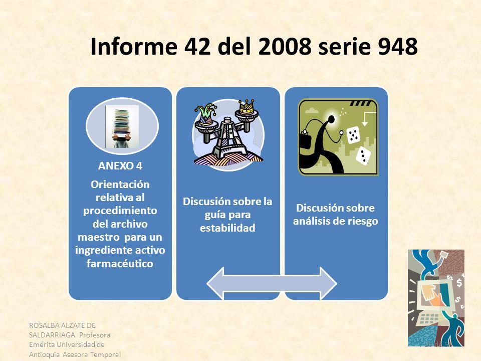 ROSALBA ALZATE DE SALDARRIAGA Profesora Emérita Universidad de Antioquia Asesora Temporal OPS 26 de 56 Informe 42 del 2008 serie 948 ANEXO 4 Orientaci
