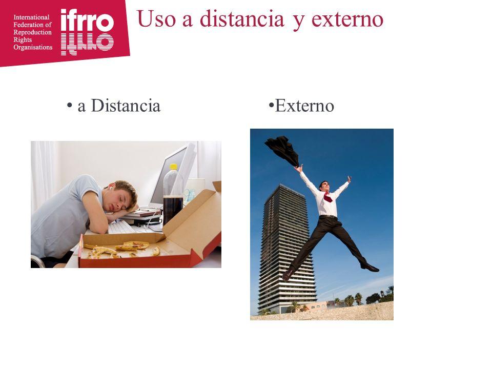 Uso a distancia y externo a Distancia Externo