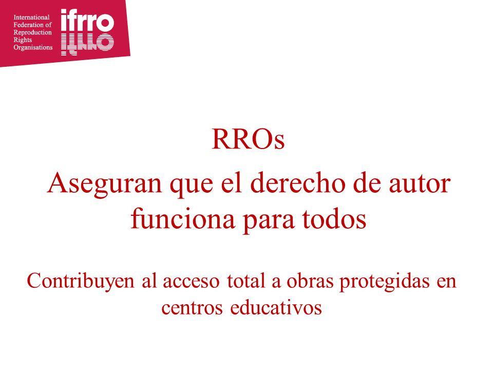 Contribuyen al acceso total a obras protegidas en centros educativos RROs Aseguran que el derecho de autor funciona para todos
