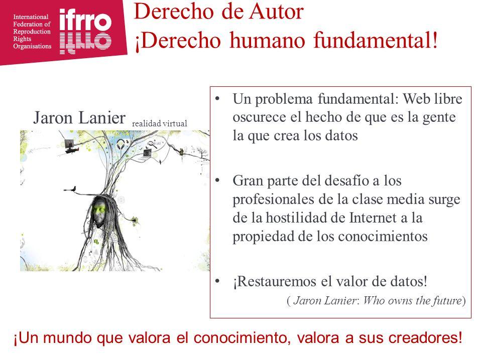 Derecho de Autor ¡Derecho humano fundamental.