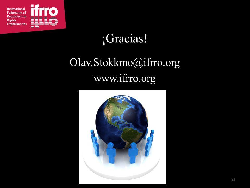 21 ¡Gracias! Olav.Stokkmo@ifrro.org www.ifrro.org