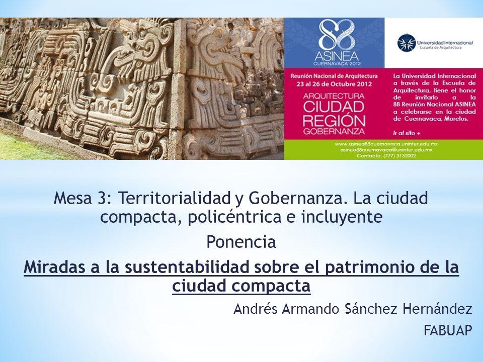 Mesa 3: Territorialidad y Gobernanza.