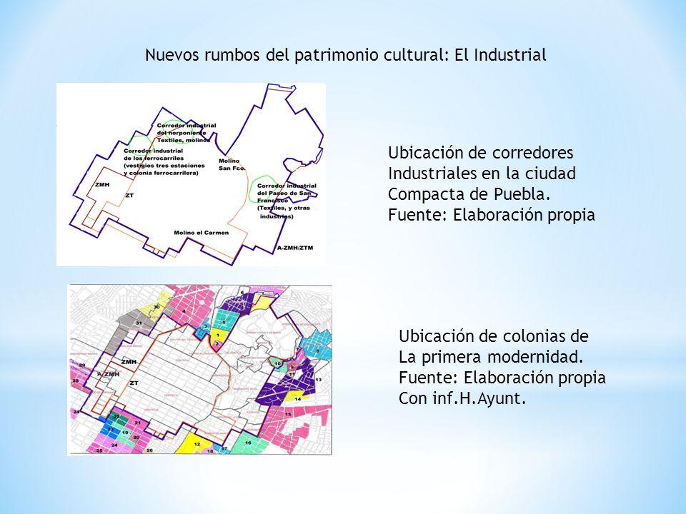 Nuevos rumbos del patrimonio cultural: El Industrial Ubicación de corredores Industriales en la ciudad Compacta de Puebla.
