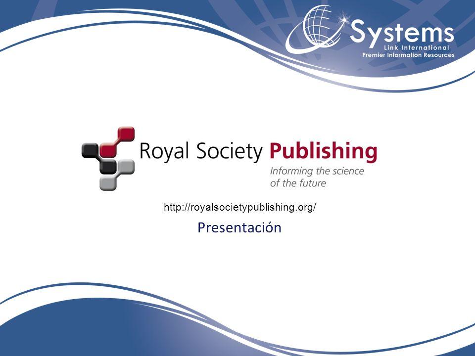 Presentación http://royalsocietypublishing.org/