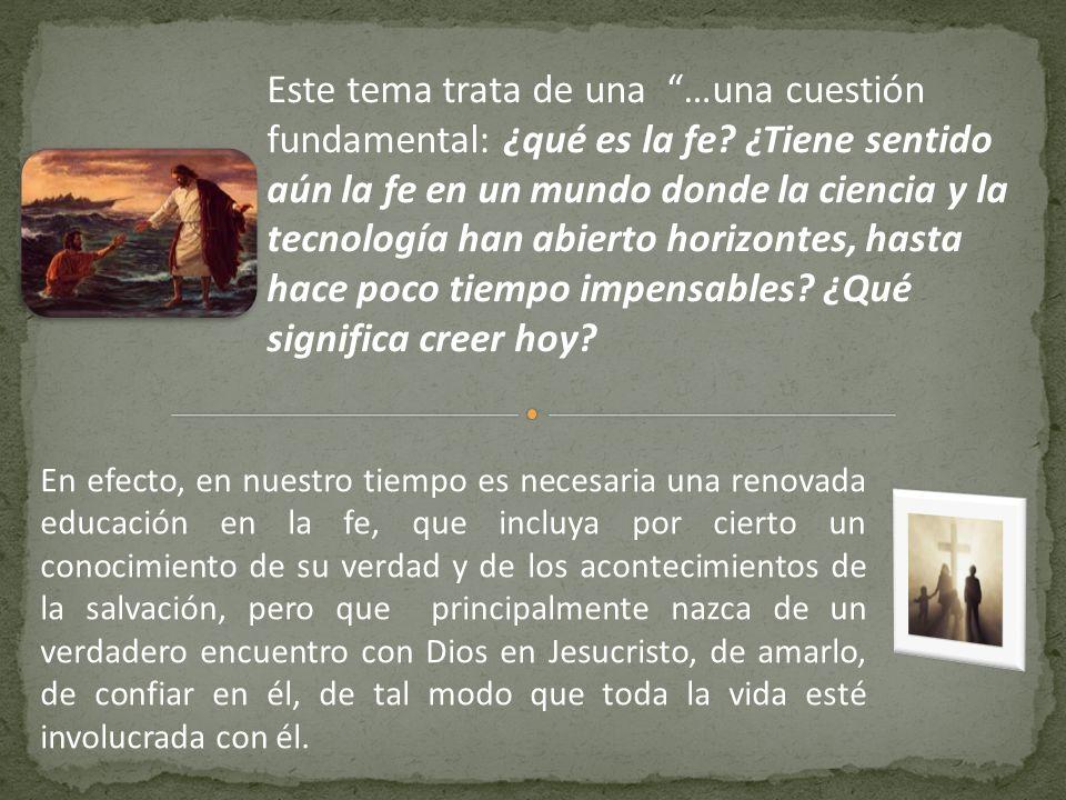 Pbro.Dr. Félix Castro Morales ¿QUÉ ES LA FE. ¿QUÉ SIGNIFICA CREER HOY.